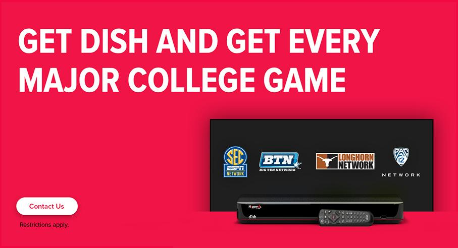 Sports TV Package - College Sports - Mariposa, California - Mariposa TV - DISH Authorized Retailer
